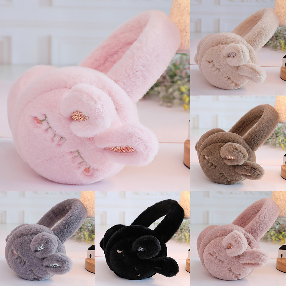 Ladies Girls Keep Warm Cute Earmuffs Cute Furry Ear Muffs Rabbit Comfy Soft Comfort Earmuffs L50C