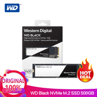 WD SSD черный NVMe 3D NAND 500 ГБ M.2 2280 SSD WDS500G2X0C твердотельный диск 3400 МБ/с. PCIe Gen3 8 ГБ/сек. для PC ноутбук