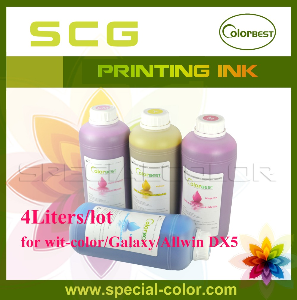 4Liters/lot Colorbest Eco Solvent Ink/Imported ink for Chinese DX5 Printer (Allwin/Wit-color/Infiniti/Myjet) 500ml 4 dye eco solvent ink suit for epson printer k c m y 4 color for wood metal pvc ceramic etc