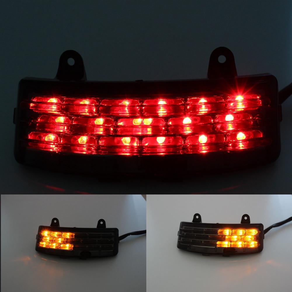 Motorcycle Turn Signals Light Indicator Rear Lights Brake Light LED taillight For Harley Touring Street Glide FLHX FLTRX