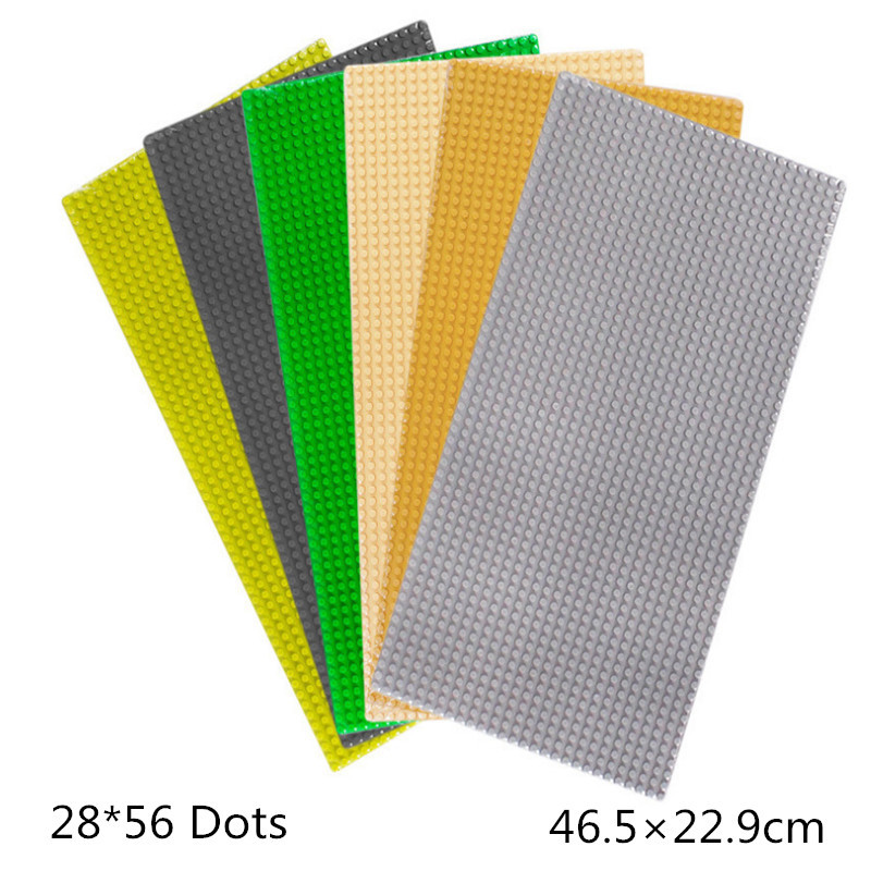 28*56 Dots Small Blocks Base Plate Building Blocks DIY Baseplate 46.5*22.9cm Compatible with famous brand new big size 40 40cm blocks diy baseplate 50 50 dots diy small bricks building blocks base plate green grey blue