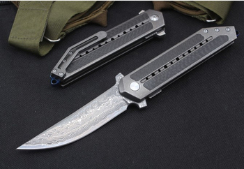 new s35vn blade folding knife titanium carbon fiber handle 60 HRC survival hunting pocket camping knives flipper EDC tools knife