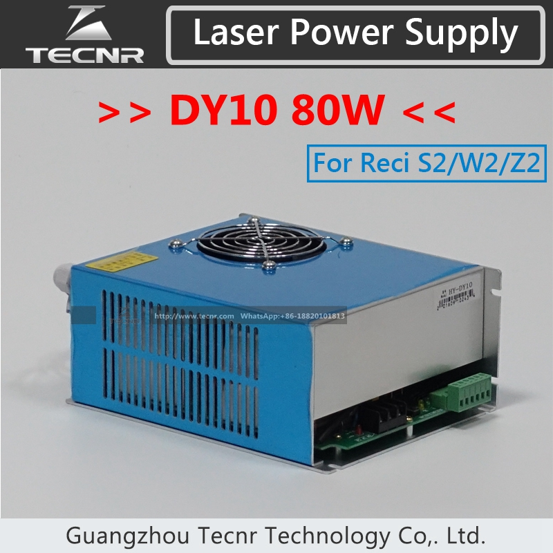все цены на TECNR DY10 CO2 laser power supply 80W laser driver for Reci W2 S2 laser tube