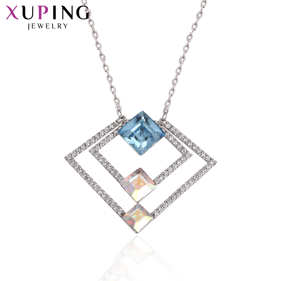 Xuping Jewelry Exquisite Necklaces Crystals from Swarovski Colorful Valentine's Day Women Beautifully Gift Wrapped S169.3 43371