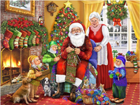 embroidery Santa Claus family diamond painting Cross 5D DIY diamond Stitch full round Rhinestone mosaic home decoration