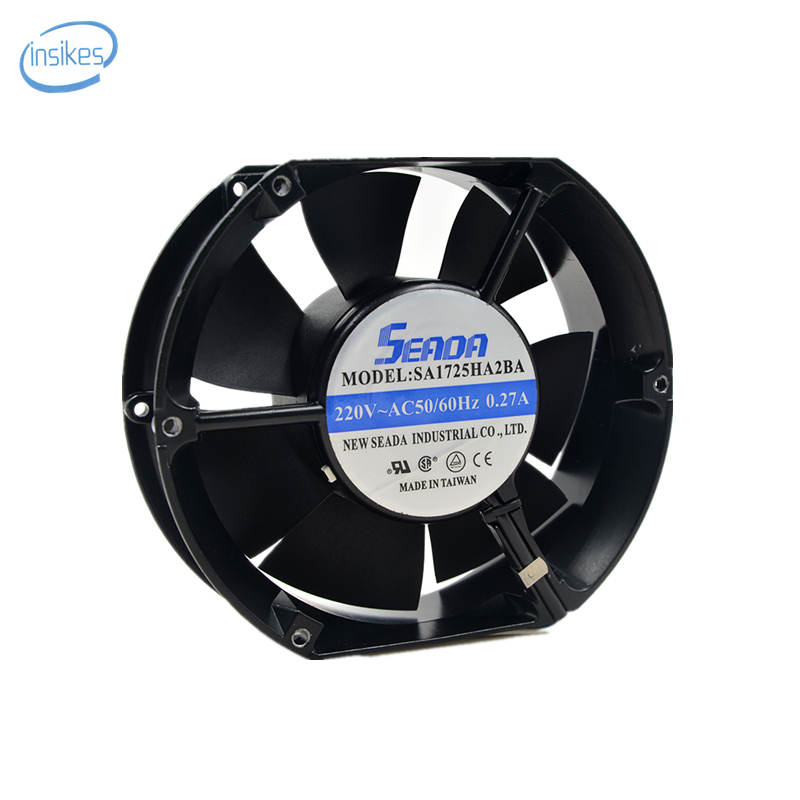 SA1725HA2BA Ball Axial Flow Cabinet Cooling Fan AC 220V 0.27A 36W 2600RPM 17251 17cm 172*150*51mm 2 Wires 50/60HZ freeshipping a2175hbt ac fan 171x151x5 mm 17cm 17251 230vac 50 60hz