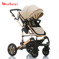 New arrival high quality big size Baby stroller folding portable two-way shock absorbers baby stroller newborn bed 0-3 years old