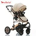 Nova chegada da alta qualidade de tamanho grande Do Bebê carrinho de criança dobrável amortecedores carrinho de bebê recém-nascidos cama portátil two-way 0-3 anos de idade