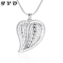 2016 Cute Waterdrop Silver Plated Pendants Necklaces For Women Party Accessories Silver Chain Woman Necklace