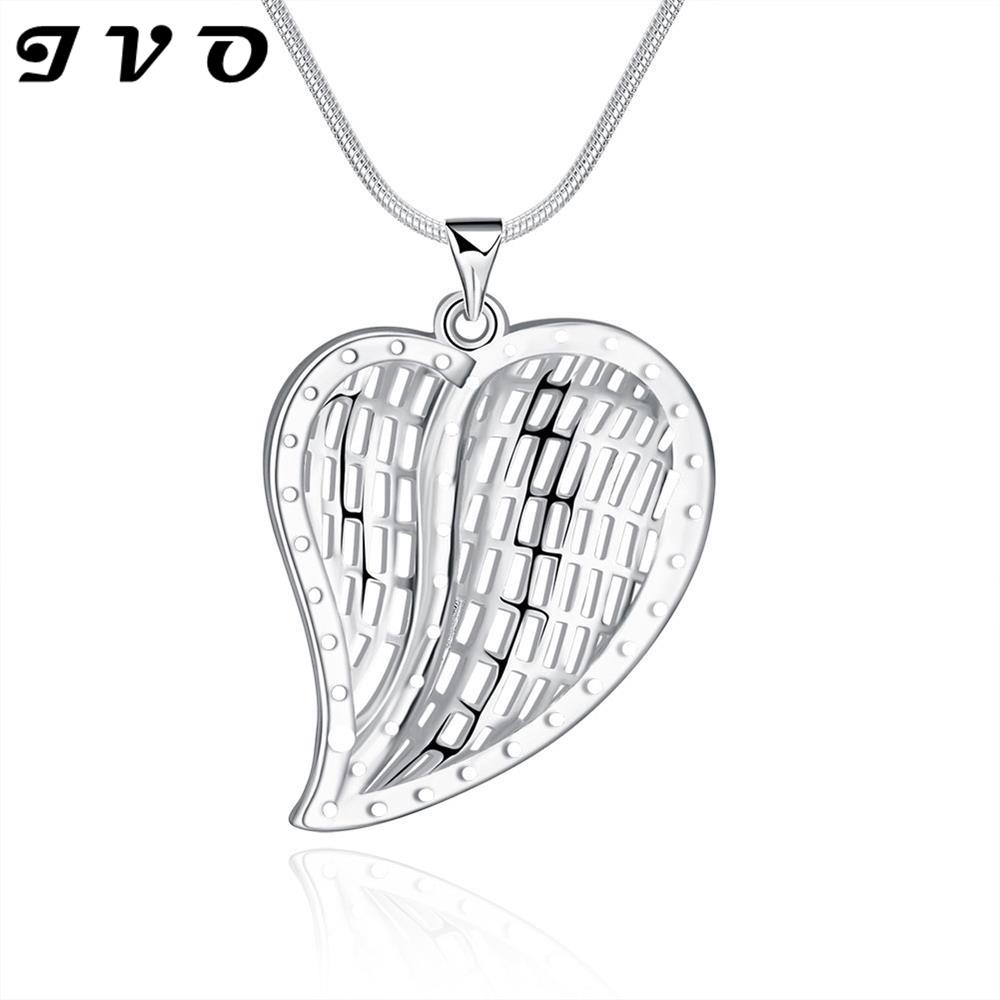 2016 Cute Waterdrop Silver Plated Pendants Necklaces For font b Women b font Party font b