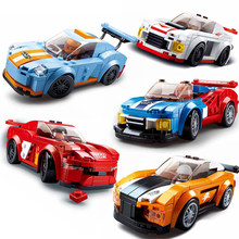 140PCS City Racing Car Speed Champions DIY Building Blocks Brick Compatible Legoinglys Technic Racer Figures Sport Cars Toy Gift(China)