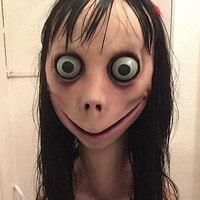 Momo Hacking costume Game Face Mask Scary Latex Masks halloween cheap masked maskes