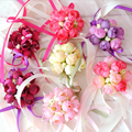 20 X Hermosa muñeca de boda Púrpura Rosa Rojo Burdeos Champán novia damas de honor de la muñeca corsage muñeca nupcial ramos