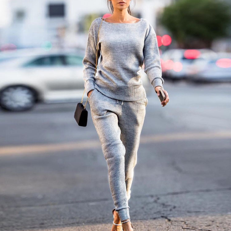 2018 Autumn Winter New Women Casual Tracksuits Fashion Sportswear Sets Loose Tops Pants Two Piece Outfits
