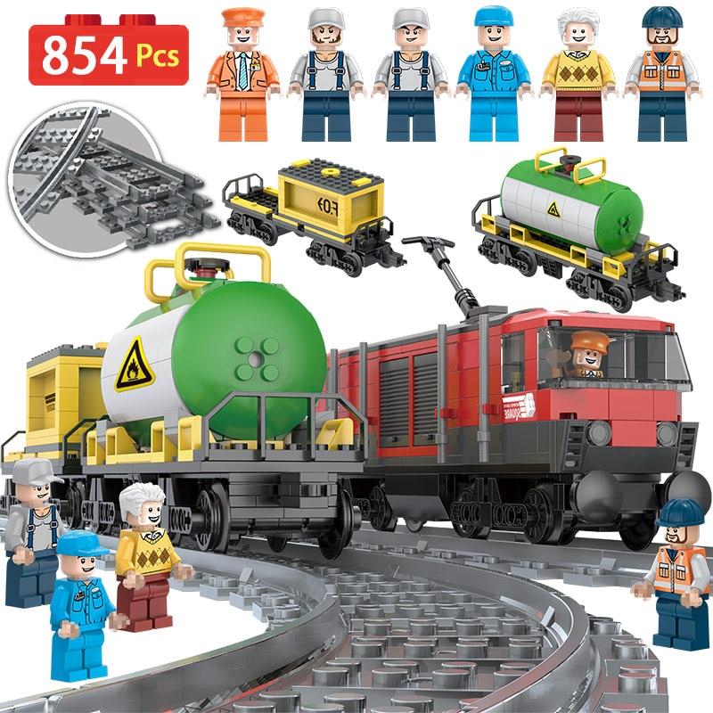 2018 Hot Creator Intercity Train Series Building Blocks Compatibe LegoINGLYS Track Train Station Architecture Toy for Children картридж cactus cs ce260ar для hp lj cp4025 cp4525 cm4540 черный 8500стр