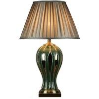 Новые китайские зеленые керамические настольные лампы Золотой медной модели гостиная спальня прикроватные настольные лампы Z17529