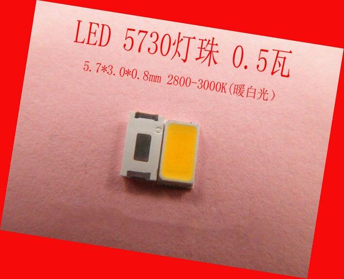 100 Teile/los Für Hohe Helle Rechteck Led 5730 3 V Leds Smd Smt 0,5 Watt 55 Bis 60 Lumen Warm White Light Emitting Diode