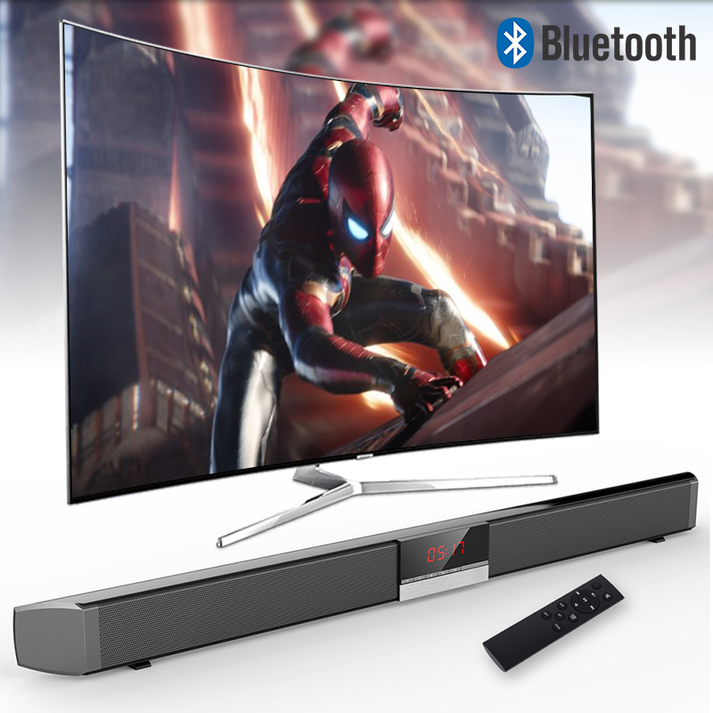 Stereo Surround Sound XGODY SR100 Plus Bluetooth Soundbar for TV Wireless Speaker Aux In Coaxial Optical Subwoofer Home Theater