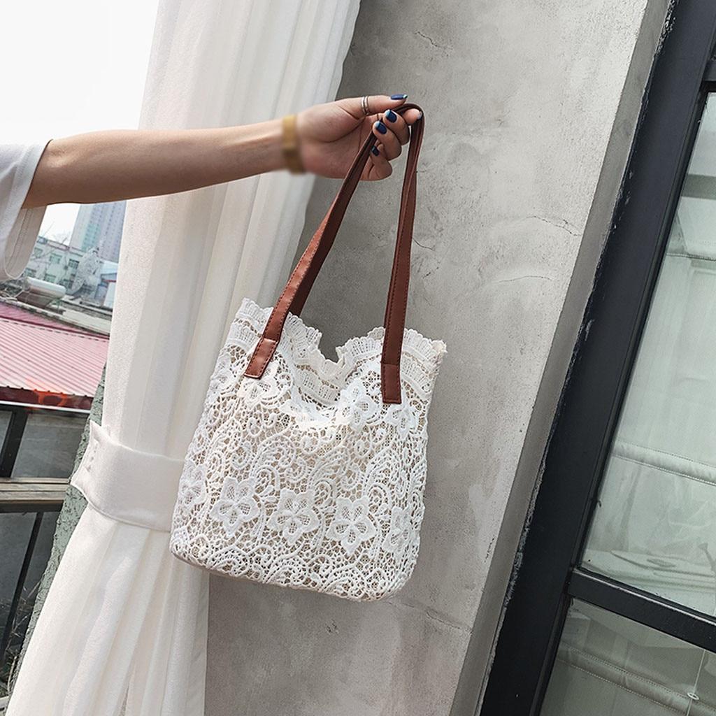 Shoulder-Bag Handbag Lace Clutch Fashion Dropship Versatile Apr10 Hollow Lady Literary