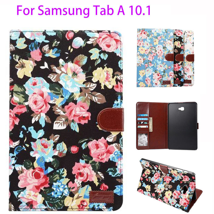 Fashion Painted Cloth Case For Samsung Galaxy Tab A A6 10.1 2016 T580 T585 T580N Cover Cases Funda Tablet Luxury Smart Shell fashion painted flip pu leather for samsung galaxy tab a 10 1 sm t580 t585 t580n 10 1 inch tablet smart case cover pen film