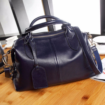 Real Cow Leather Women bag Cross Body Top Handle Bag Classic casual fashion female bag of bill of lading messenger bag Handbags