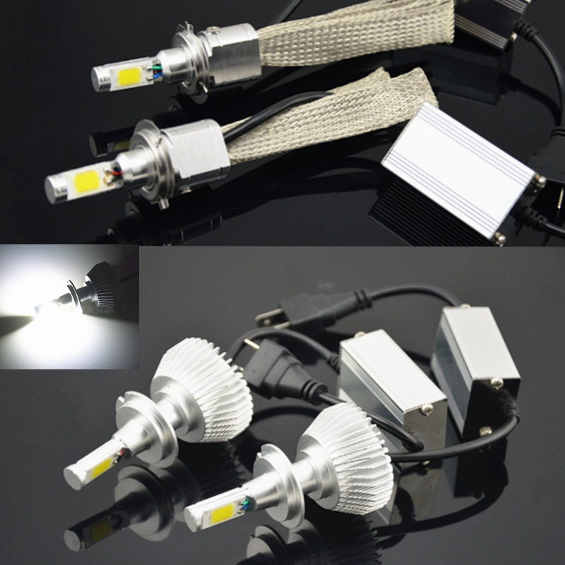 2pcs Car H1 H3 H4 H7 H11 LED Head Light 60W 80W 6000K 12V/24V Car Xenon White Headlight Fog Lamp High Low Kit Globes Bulbs 12v led light auto headlamp h1 h3 h7 9005 9004 9007 h4 h15 car led headlight bulb 30w high single dual beam white light