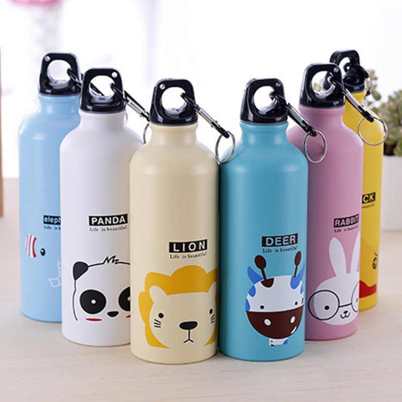 Дети учатся бутылки для воды дети воды чашки красивый подарок детский питьевой стакан принт с изображением милых животных малыш посуда для напитков T0593