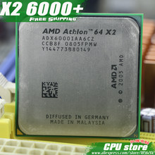 AMD Athlon 64 X2 6000+ CPU Processor (3.0Ghz/ 2M /1000GHz) Socket am2 (working 100% Free Shipping) 940 pin ,sell X2 5800+(China)