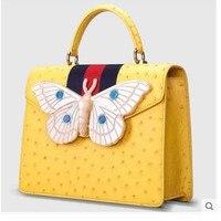 Cestbeau новая импортная водоокрашенная KK Страусиная кожаная сумка, страусиная кожа бабочка сумка на одно плечо женская сумка