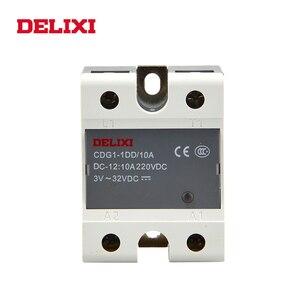 DELIXI CDG1 solid state relay SSR-10DD 25DD 40DD 60DD 80DD 3-32V DC TO 12-220V DC SSR single phase DC Control DC No Contact(China)