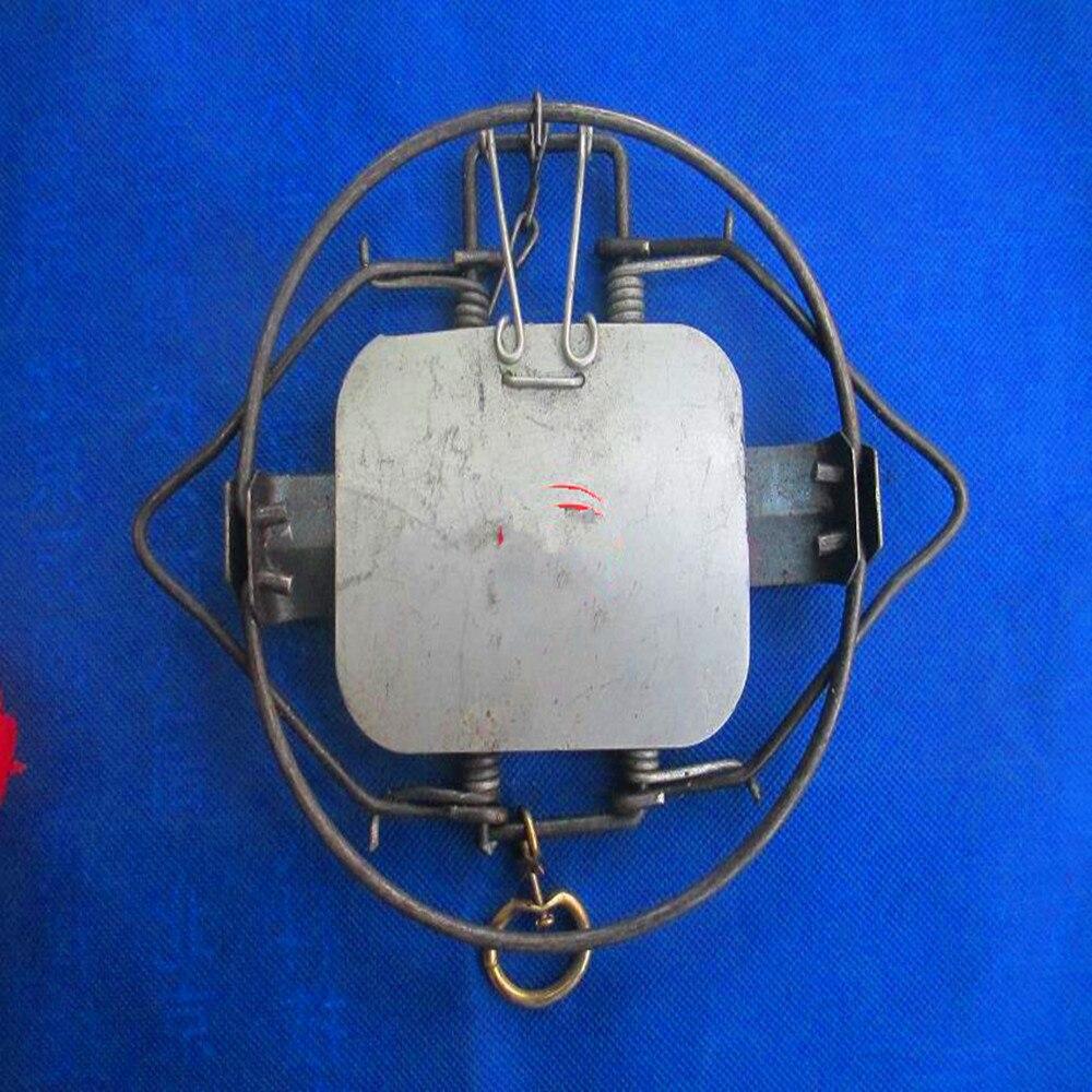 Leg Hold Trap 130mm 5 Inch Animal Rabbit Vole Skunk Fox Coyote Skunk Muskrat Fisher Mink Steel Spring Trap