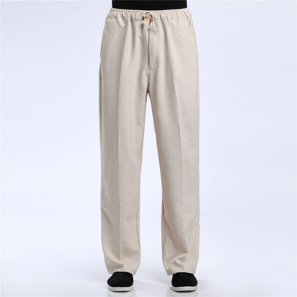 Shanghai Story Blend Linen Casual Pants Men's Pant Chinese Male Kung Fu Trousers Chinese Traditional Clothing For Man