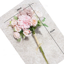 1pcs Artificial Rose Flowers Bouquet Leaves Party Holding Flower Home Decoration High quality wedding decoration 31cm цена