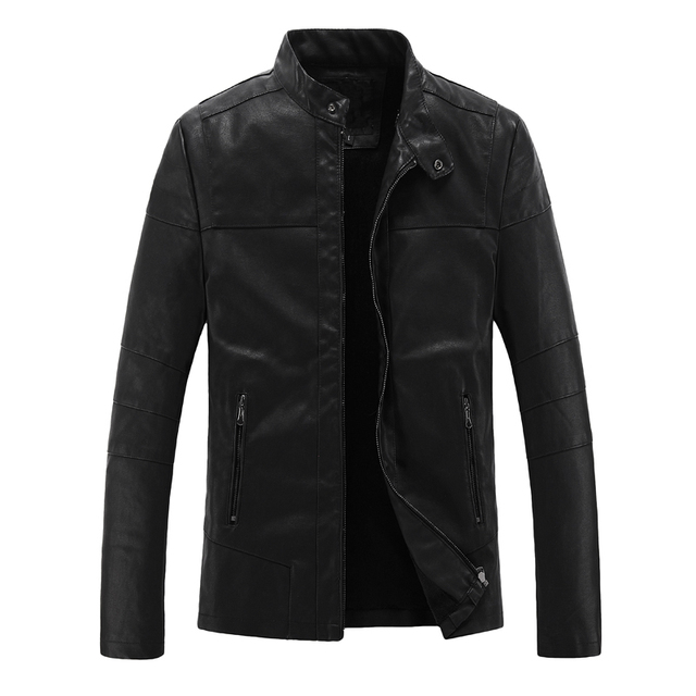 2016 New Autumn Fashion Leather Jacket Men High Quality Outwear Mens Leather Jackets And Coats Free Shipping