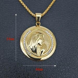 Image 2 - חדש קתולי דתי תכשיטי מרים בתול תליוני זהב צבע נירוסטה מדונה קולייר עבור נשים 2020 שרשרת