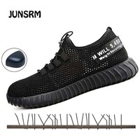 2019 new Comfortable breathable safety shoes men s Lightweight summer anti smashing piercing work sandals Single mesh lisse