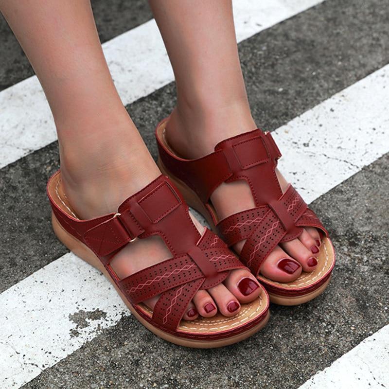 Hot Selling Women Premium Orthopedic Open Toe Sandals Vintage Anti-slip Breathable For Summer -B5
