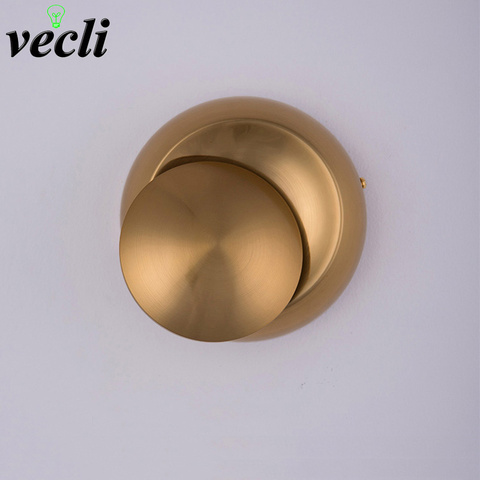 5 w led lampada de parede ouro