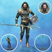 "DC 2018 Movie Aquaman 6"" Action Figure KOs Meidcom Toy Mafex Arthur Curry Orin Trident Mother Box Justice League Toys Doll"