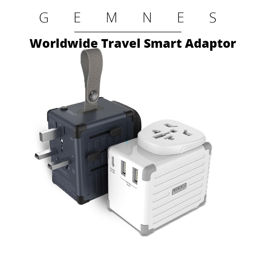 4000 W adaptateur de voyage dans le monde entier prise universelle 42 W USB USB-C PD Type C chargeur EU US UK AU prise pour Xiaomi Samsung téléphone iPad
