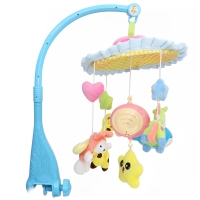 Baby Colorful Crib Musical Mobile Cot Bell with Holder Arm Baby Bed Hanging Rattle Toys Newborn Gift Learning& Education