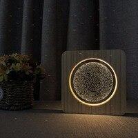digital design table lamp wood warn white lighting table lamp modern for living room deco baby room gifts for girls boys