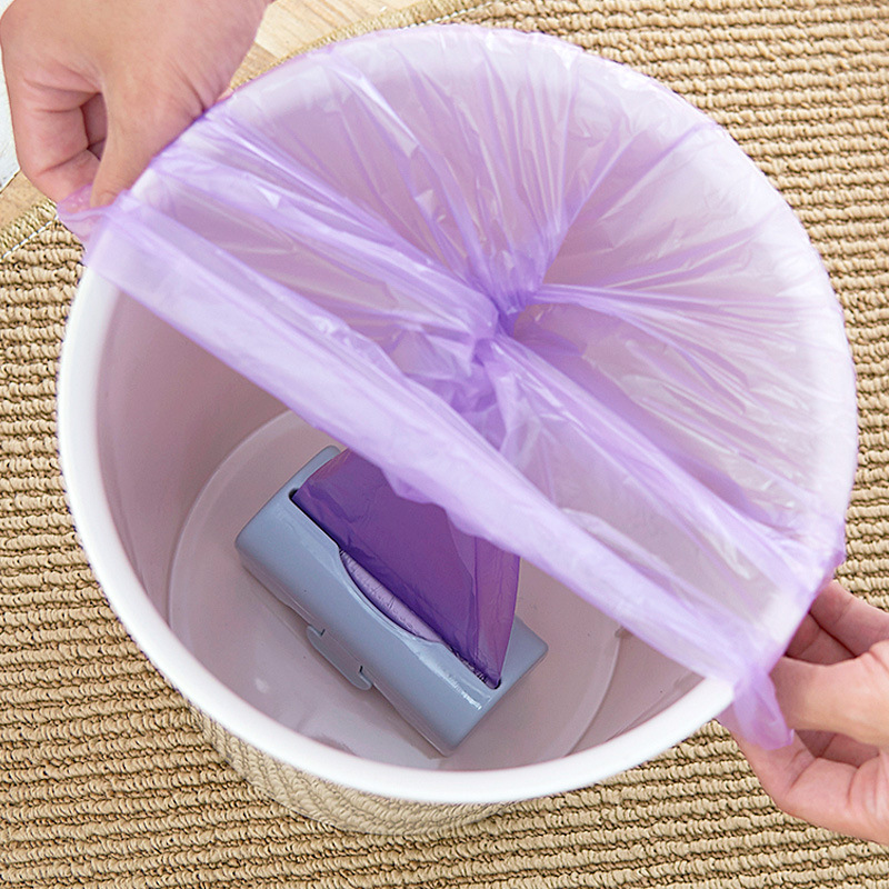 LASPERAL 11.5x5x5.5cm Plastic Storage Box Kitchen Bathroom Garbage Wall-mounted Colorful Home Storage Box Container