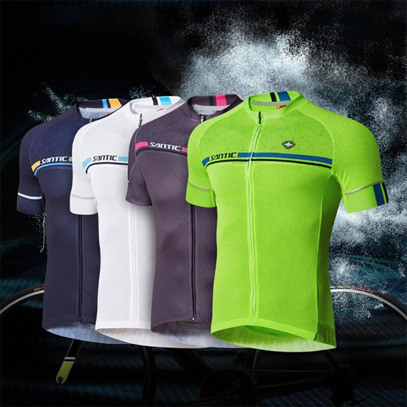 Santic spexcel vélo jersey maillot ciclismo triathlon d'été à séchage rapide respirant court renard vtt motocross jersey C02107