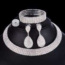 4 PCS Luxury Wedding Bridal Jewelry Sets