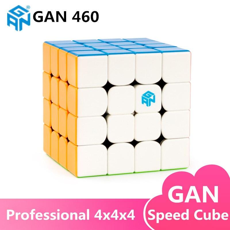 GAN460 M 4x4x4 Magnétique puzzle Cube Magique GAN 460 Professionnel 4 Couche Aimants Vitesse Cubo Magico GANS Jouets Pour Enfants - 5