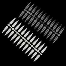 120 шт., длинные стилеты для ногтей, цветные образцы, палитра для практики, острые накладные ногти для маникюра, акриловая, для салона, натуральная, прозрачная, демонстрационная доска
