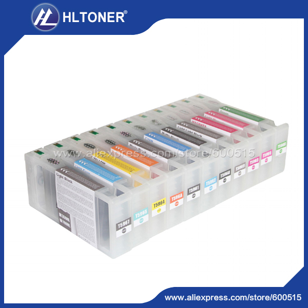 11pcs Compatible ink cartridge Epson T5961 T5962 T5963 T5964 T5965 T5966 T5967 T5968 T5969 TY596A T596B for Stylus Pro 7900 9900 msk541b 5962 8870101xc