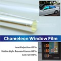50x300cm Car Window Chameleon Tint Tint Film Glass VLT 75% Purple to Blue Solar UV Protection Summer Prevent Ultraviolet