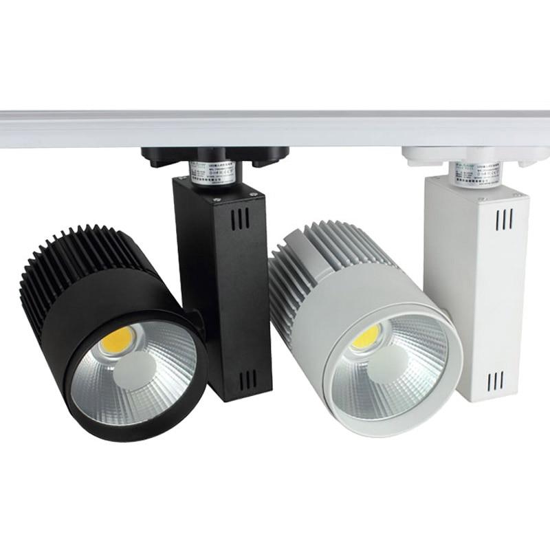 20W 3 wire COB LED Track light AC110 240V Track Lighting Bridgelux ...